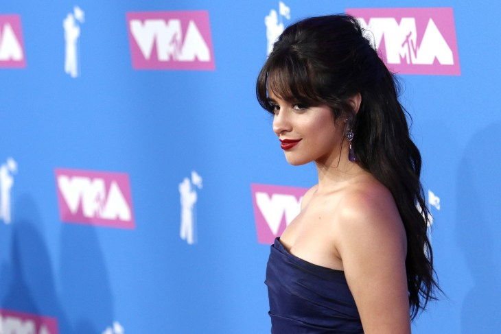 Camila Cabello attends the MTV Video Music Awards at Radio City Music Hall on August 20, 2018, in New York.