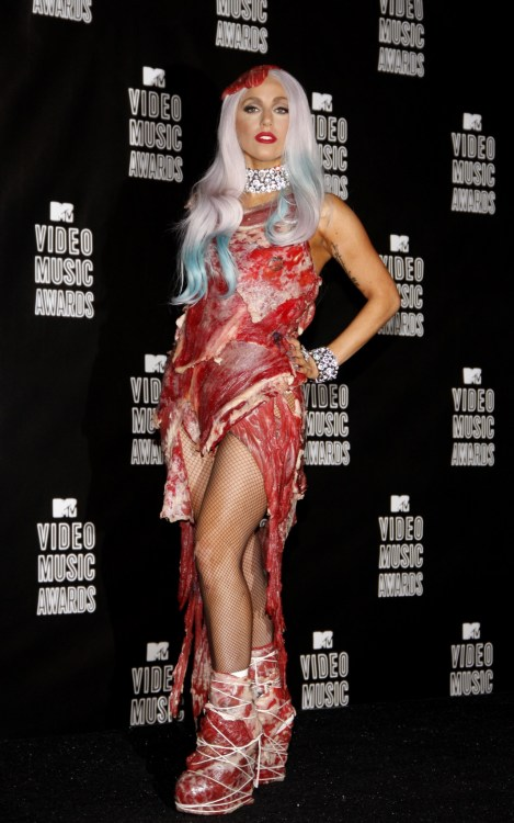 Lady Gaga at the 2010 MTV Video Music Awards held at the Nokia Theatre L.A. Live in Los Angeles, USA on September 12, 2010