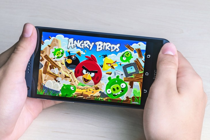 Angry Birds computer game developed by Finnish company Rovio Entertainment first released in 2009. It sold over 2 billion copies across all platforms