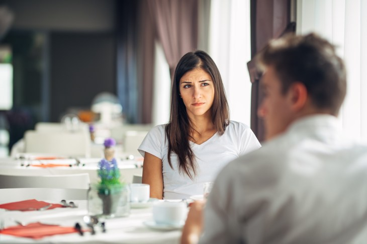 Woman feeling absent and not interested