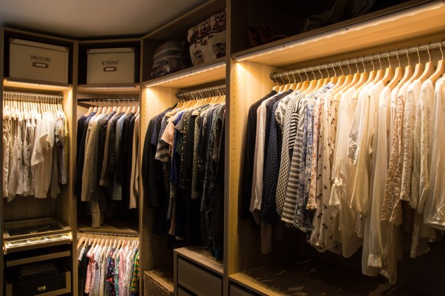 Wardrobe with lighting