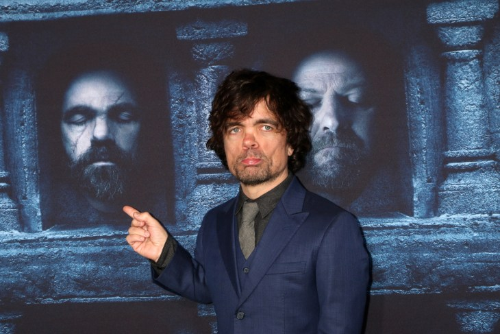 LOS ANGELES - APR 10: Peter Dinklage at the Game of Thrones Season 6 Premiere Screening at the TCL Chinese Theater IMAX on April 10, 2016 in Los Angeles, CA - Image