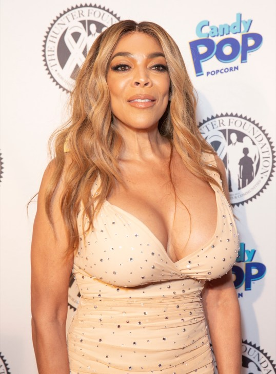 Wendy Williams wearing dress by Norma Kamali attends Wendy Williams and The Hunter Foundation gala