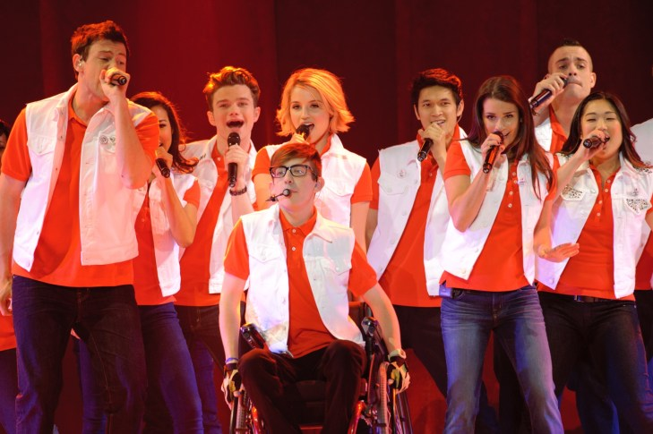 Cast members perform at the Glee Live! In Concert! tour at the Power Balance Pavilion on May 23, 2011 in Sacramento, California.
