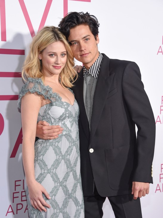 Lili Reinhart and Cole Sprouse on the red carpet of the 'Five Feet Apart' premiere in Los Angeles.