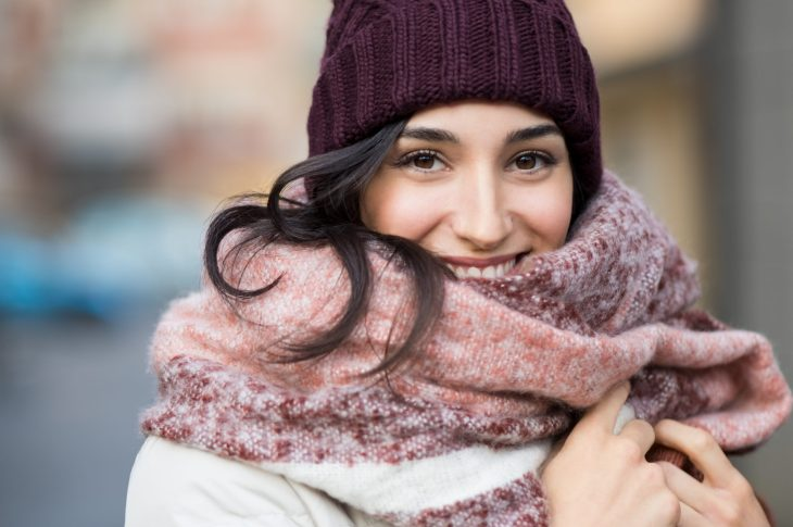 Girl With Winter Scarf