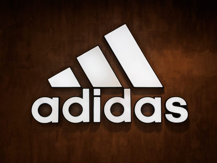 Adidas logo on the wall. S