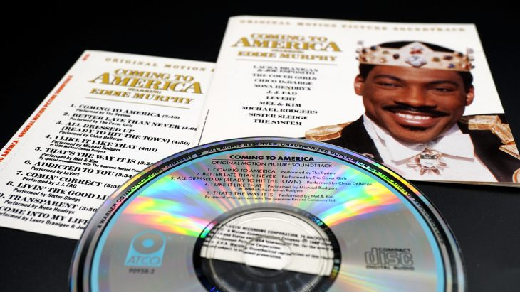 A Vinyl record album of the film Coming to America.