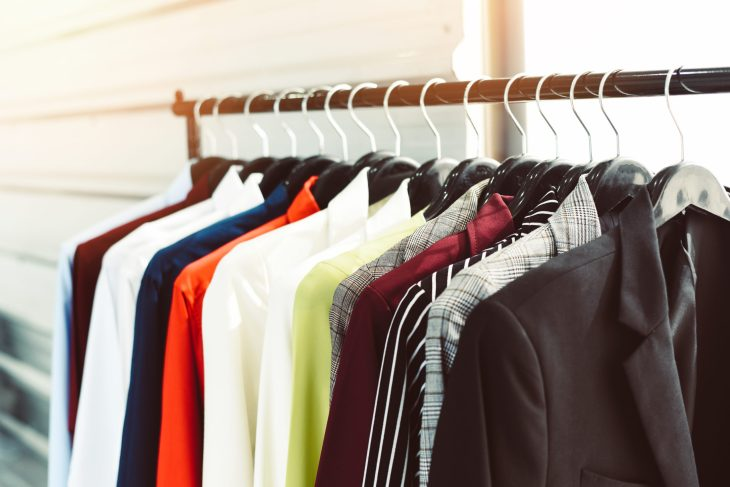 A rack full of professional looking suits