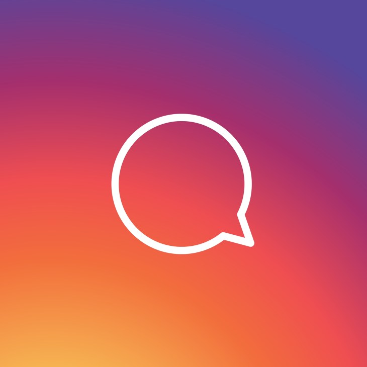Comment logo with the Instagram colors