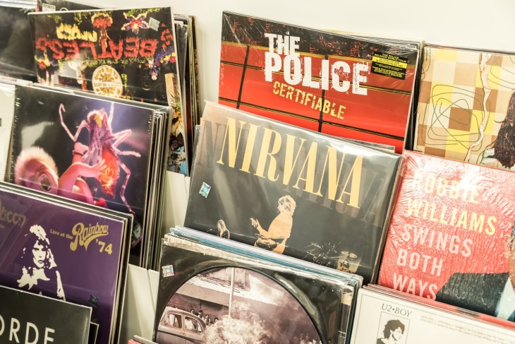 Collection of Nirvana albums