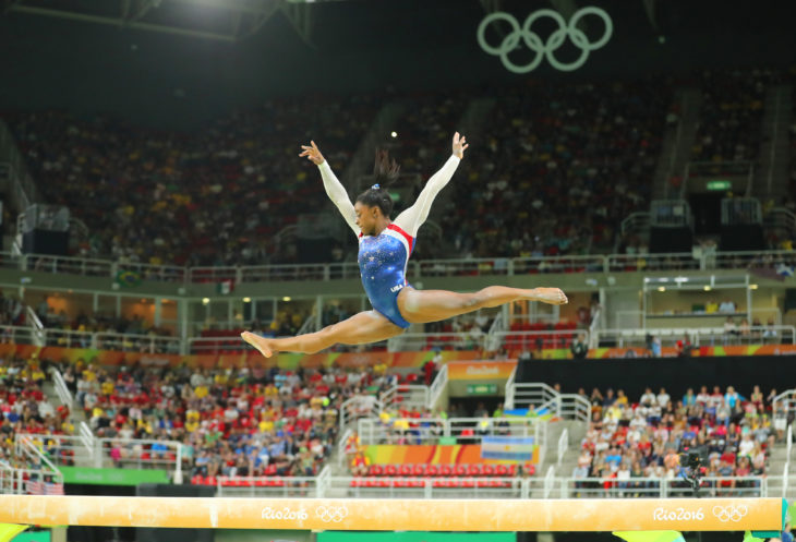 Simone Biles performing at an event