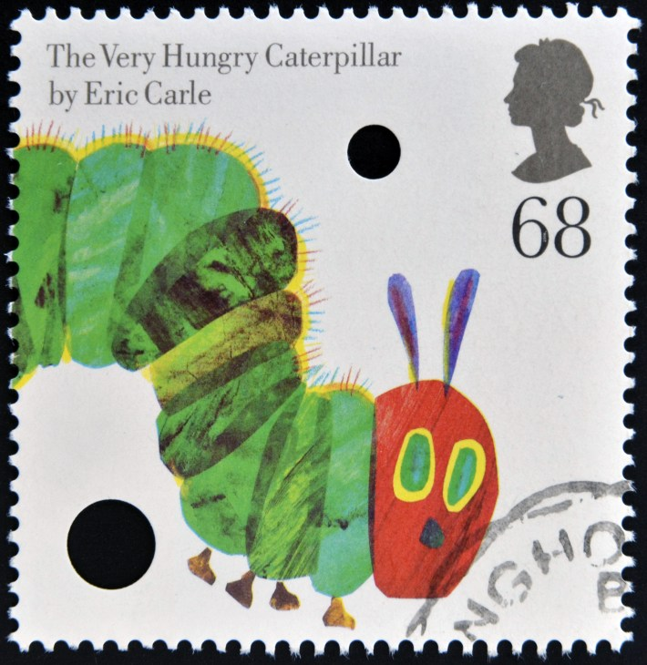 Stamp featuring The Very Hungry Caterpillar