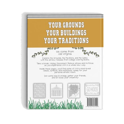 College Coloring Books Color Your Own University of Virginia Coloring Book Back Cover