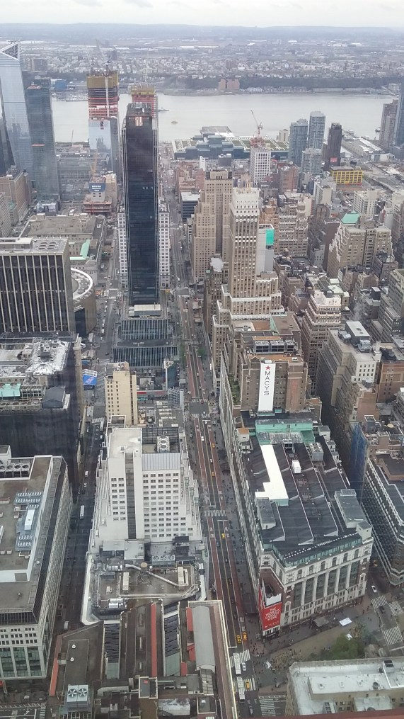 View from the Empire State Building, on the 80th floor.
