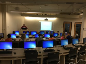 Mr.Shultz begins the June Session in the Make Your Own Website class.