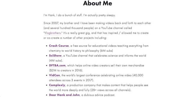 Hank Green Website