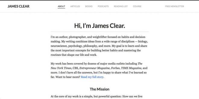 James Clear Website