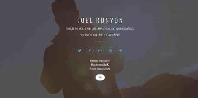 Joel Runyon Website