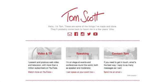 Tom Scott Website