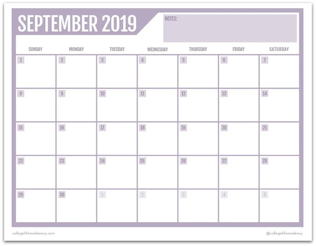 Free Printable Monthly Calendar 3 Cute Designs
