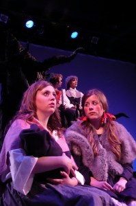 Theatre students on stage