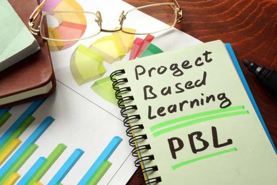 Project Based Learning written over a book