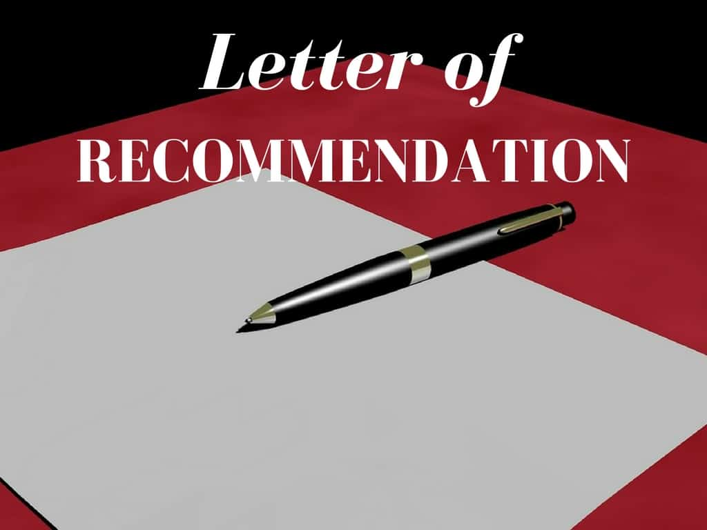 fit letter of recommendation