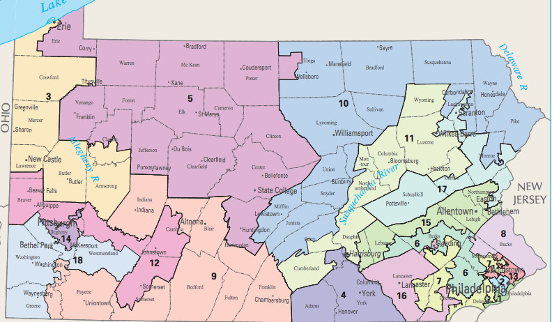 Gerrymandered distrcts pa