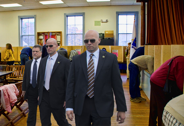 Polling Place 4 SS Agents