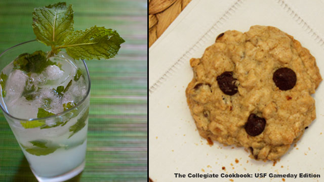 The Raging Bulls Mojito and the McNeese State Cowboy Cookies  from Collegiate Cookbook: USF Gameday Edition