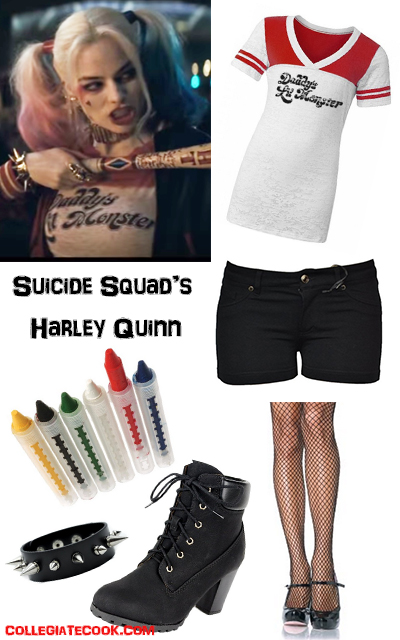 Margot Robbie as Harley Quinn costume idea -- Suicide Squad costumes