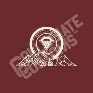 Beta Alpha Psi Mountains Design