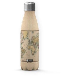 botella mapa acero inoxidable