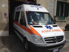Ambulanza della SVS Pubblica Assistenza di Livorno