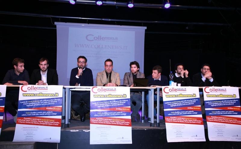 GRANDE SUCCESSO ALLA PRESENTAZIONE DI COLLENEWS ALLA SALA SPETTACOLO