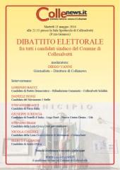 Locandina dibattito Collenews