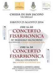 Manifesto concerto fisarmonica Vicarello