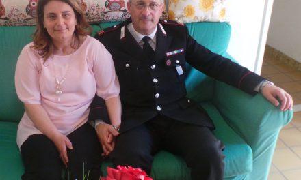 25 ANNI DI MATRIMONIO PER IL MARESCIALLO DI COLLESALVETTI FRANCESCO RELLI E SUA MOGLIE MARIA D'ERRICO