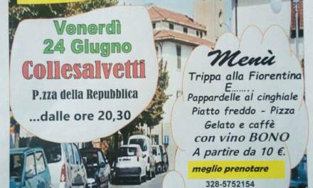 "L'ESTATE A COLLESALVETTI É ""TRIPPA IN PIAZZA"""