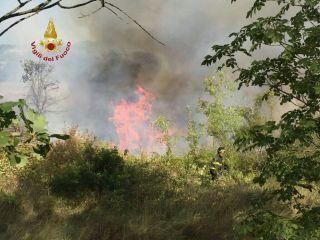 incendio a Parrana San Martino