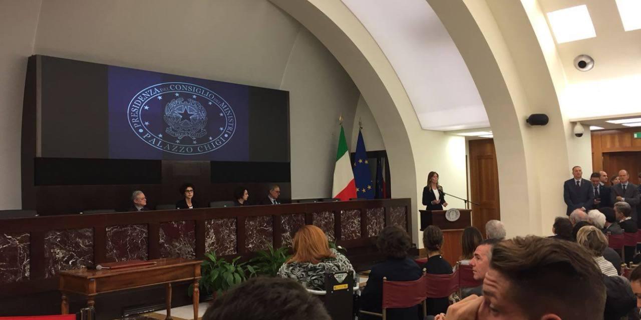 IL ROTINO A ROMA, MA NON PER GIOCARE UNA PARTITA. ALLA PRESIDENZA DEL CONSIGLIO PER DIRE NO ALLA VIOLENZA DI GENERE