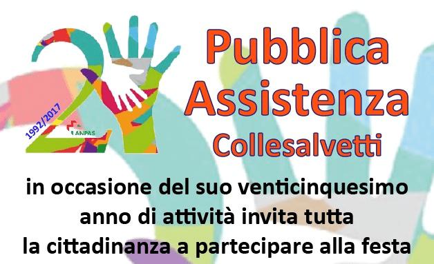 LA PUBBLICA ASSISTENZA DI COLLESALVETTI FESTEGGIA I 25 ANNI DI ATTIVITÀ