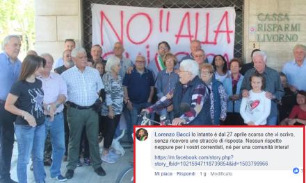 CHIUSURA DELLA BANCA DI GUASTICCE, IL SINDACO BACCI COMMENTA SULLA PAGINA FB DEL BANCO BPM