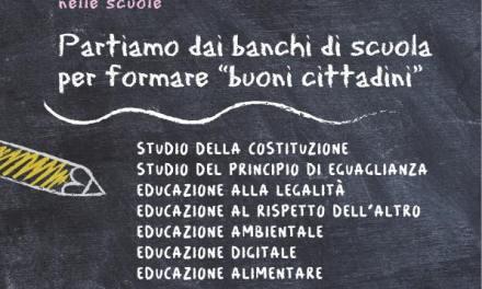 """IL COMUNE DI COLLESALVETTI ADERISCE ALLA RACCOLTA FIRME: NELLE SCUOLE SI INSEGNI """"EDUCAZIONE ALLA CITTADINANZA"""""""