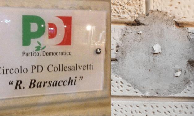 VANDALISMO ALLA SEDE PD DI COLLESALVETTI, ARRIVA LA SOLIDARIETÀ DEI CINQUE STELLE