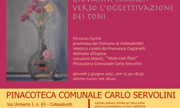 """ALLA PINACOTECA DI COLLESALVETTI UN """"PERCORSO SPRINT"""" DEDICATO A GIOVANNI MARCH"""