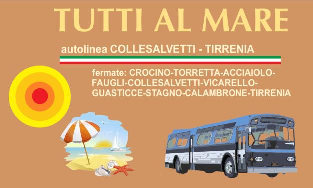 """""""TUTTI AL MARE"""" CON CORTI BUS. INAUGURATA LA LINEA COLLESALVETTI-TIRRENIA"""
