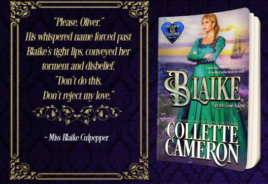 Blaike: Secrets Gone Askew, Conundrums of the Misses Culpepper, Collette Cameron historical romances, Collette Cameron Regency Romance novels, Victorian Romances, historical romance covers, regency romance covers, best historical romance books, best regency romance books