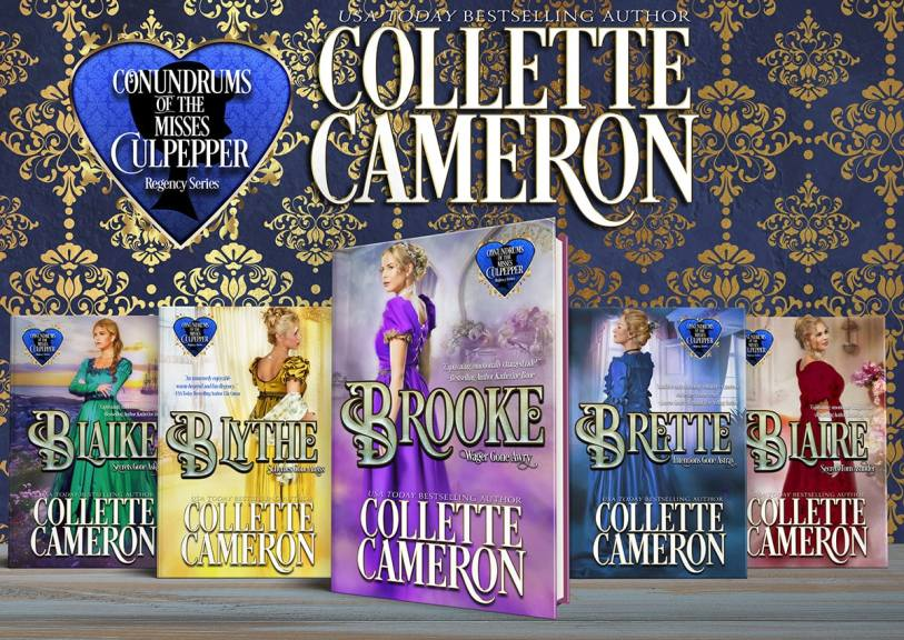 FREE KIndle Unlimited Romances, Brette: Intentions Gone Astray  99¢, Conundrums of the Misses Culpepper #3, USA Today Bestselling Author Collette Cameron, Historical Romance Covers, Regency Romance Covers, Historical romance novels, Regency Romances, Sister Series, ebook SaleCollette Cameron Historical Romances, Read Historical Romance books on-line, Read Regency romance books on-line, 99¢ Conundrums of the Misses Culpeppers!, Collette Cameron Regency Romances,99¢ Conundrums of the Misses Culpepper! Historical books to read on-line, Regency romances to read on-line